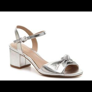 NEW ALDO | Silver Metallic Knottie Sandal Heel